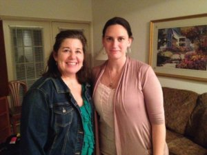 Living donor Katherine and donor kidney recipient Laurell
